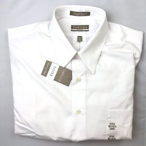 Dress shirt white fitted size large 16 1/2 34/35